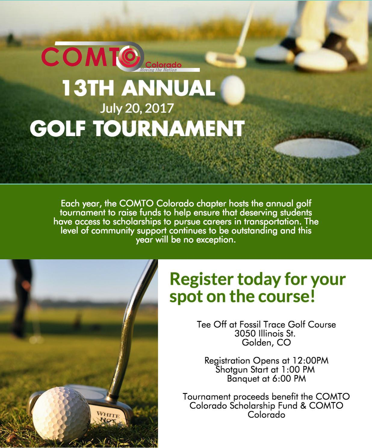 COMTO Colorado Annual Golf Tournament 2017