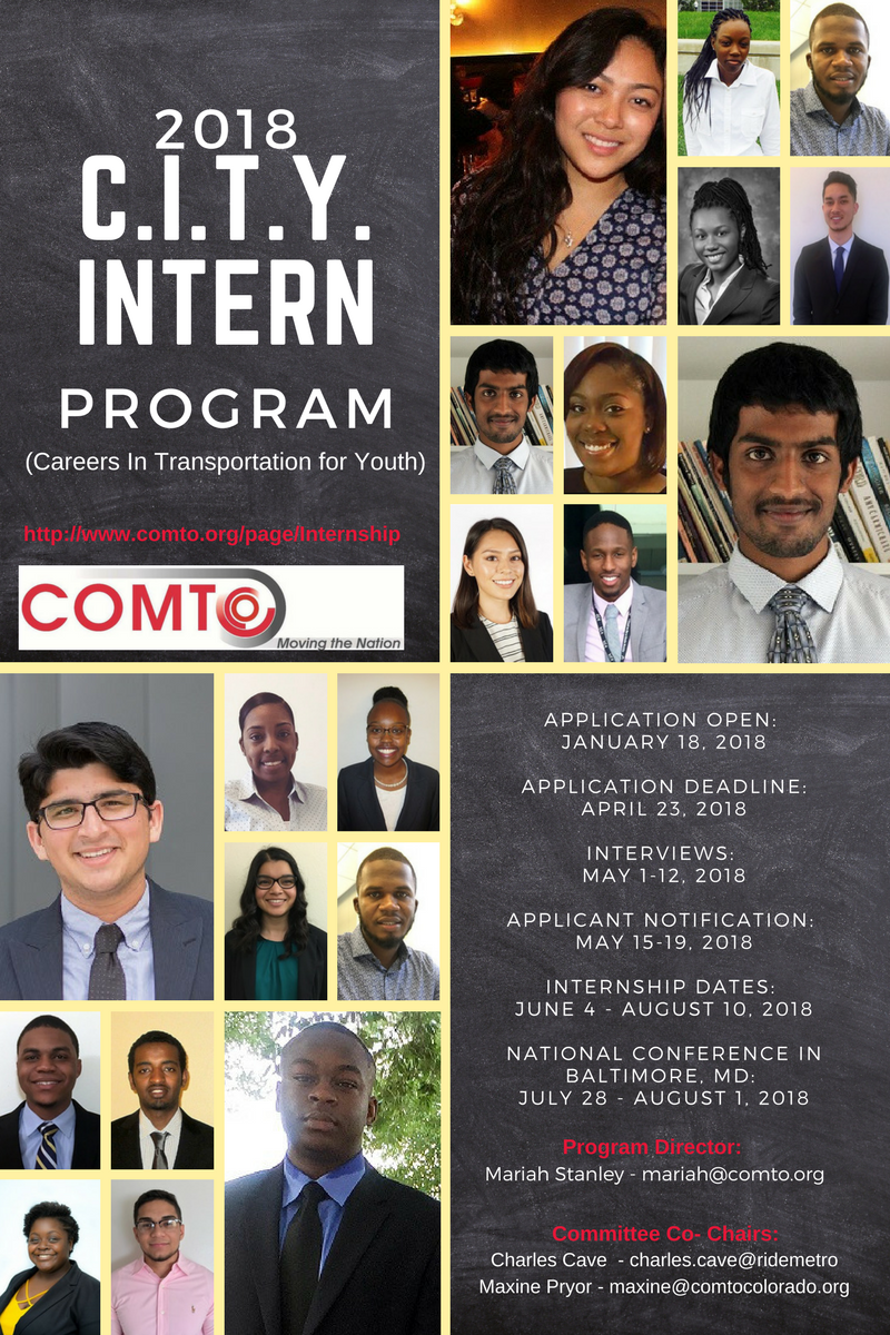 2018 C.I.T.Y (Careers in Transportation for Youth) Intern Program by COMTO