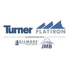 Turner, Flatiron, Gilmore, and JMB logos